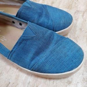 TOMS blue women's shoes